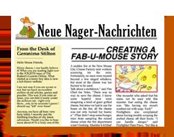 Werde Reporter bei den «Neuen Nager-Nachrichten» - Scrivi un articolo de l'ECO del RODITORE - Geronimo Stilton