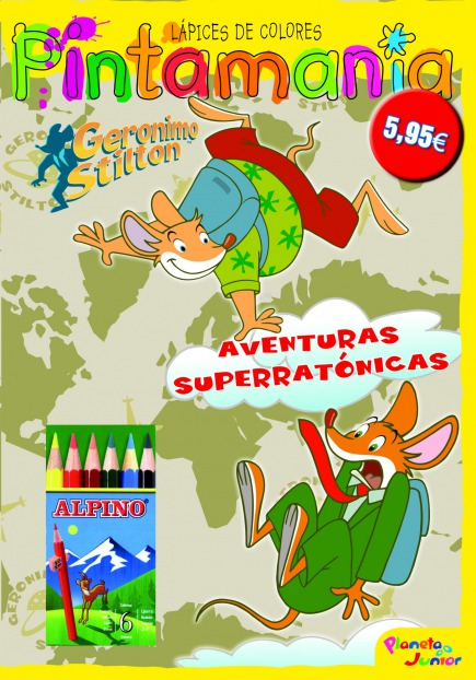 Pintamanía lápices de colores. Aventuras superratónicas