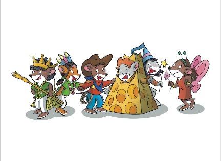 ¡Todos los ratoncitos disfrazados por Carnaval!