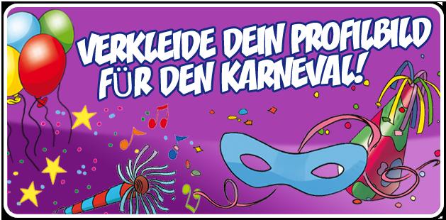 Schmücke dein Profilbild zu Karneval!