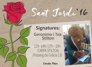 Demà tenim una cita per Sant Jordi!!
