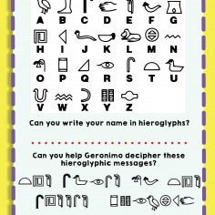 Secret Hieroglyphic Message