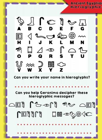 Secret Hieroglyphic Message