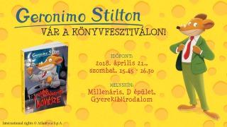 Találkozz Geronimo és Tea Stiltonnal a Könyvfesztiválon!