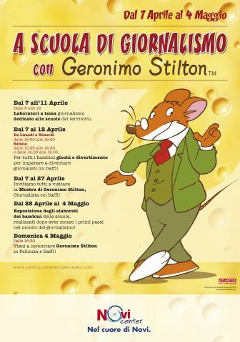 Geronimo Stilton in Pelliccia e Baffi a Novi Ligure