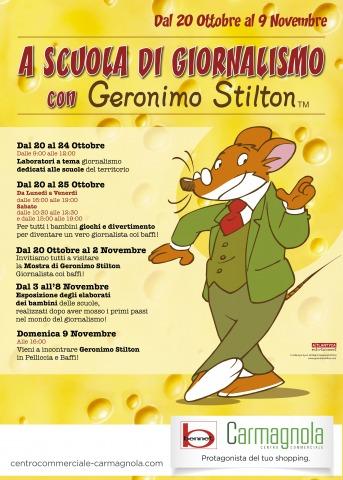 A scuola di giornalismo con Geronimo Stilton, a Carmagnola!