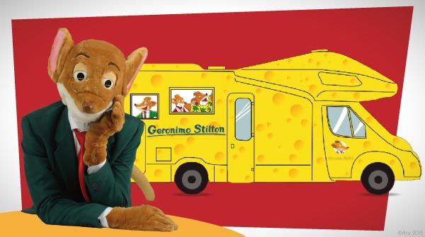 Si parte a bordo di uno stratopico camper color formaggio!