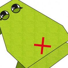 Origami kikker