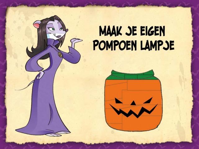 Halloween - pompoen lampje