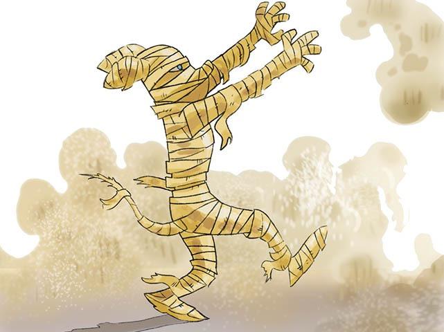Op zoek naar de dolgedraaide mummie!