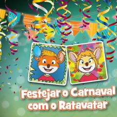 Chegaram os Ratavatares de Carnaval!