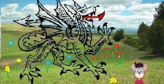 Dragão raro encontrado no Reino da Fantasia
