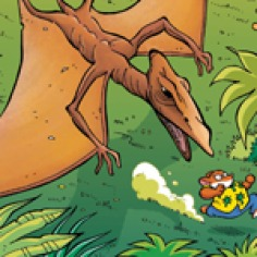 """Comic #7 """"Dinosaurs in Action"""""""