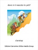 claratop - dove si è nascoto lo yeti?