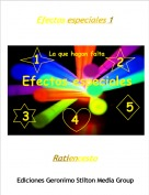 Ratiencesto - Efectos especiales 1