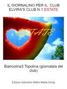 Biancolina3 Topolina (giornalaia del club) - IL GIORNALINO PER IL CLUB ELVIRA'S CLUB N.1 ESTATE