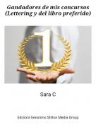 Sara C - Gandadores de mis concursos(Lettering y del libro preferido)