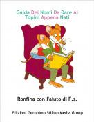 Ronfina con l'aiuto di F.s. - Guida Dei Nomi Da Dare Ai Topini Appena Nati