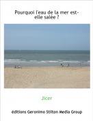 Jicer - Pourquoi l'eau de la mer est-elle salée ?