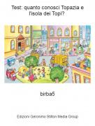 birba5 - Test: quanto conosci Topazia e l'isola dei Topi?