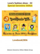 Lovebook2806 - Love's fashion show - 22Special Geronimo Stilton