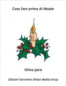 lillina para - Cosa fare prima di Natale