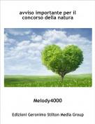 Melody4000 - avviso importante per il concorso della natura
