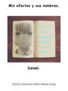 Deneb. - Mis efectos y sus nombres.