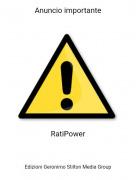 RatiPower - Anuncio importante