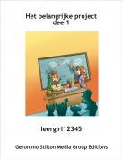 leergirl12345 - Het belangrijke projectdeel1