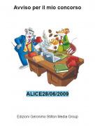 ALICE28/06/2009 - Avviso per il mio concorso