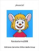 Ratobailarina2008 - ¡Anuncio!