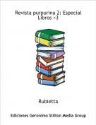Rubietta - Revista purpurina 2: Especial Libros <3
