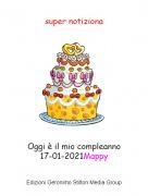 Oggi è il mio compleanno17-01-2021Mappy - super notiziona