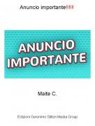 Maite C. - Anuncio importante‼‼‼