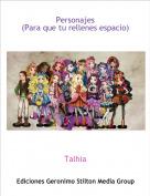 Talhia - Personajes(Para que tu rellenes espacio)