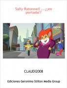 CLAUDI2008 - Sally Ratonnell ...¿¡en portada!?