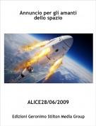 ALICE28/06/2009 - Annuncio per gli amanti dello spazio