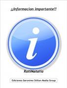 RatiNatalia - ¡¡Informacion importante!!