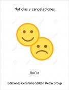 RaCla - Noticias y cancelaciones
