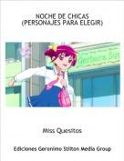Miss Quesitos - NOCHE DE CHICAS(PERSONAJES PARA ELEGIR)