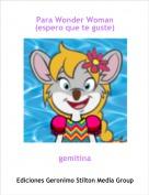 gemitina - Para Wonder Woman (espero que te guste)