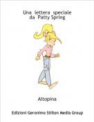 Altopina - Una  lettera  speciale da  Patty Spring