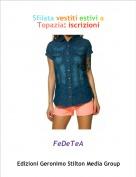 FeDeTeA - Sfilata vestiti estivi a Topazia: iscrizioni