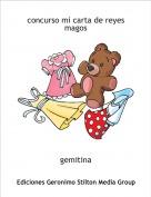 gemitina - concurso mi carta de reyes magos