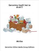 Mirthe - Geronimo heeft het te druk!!!