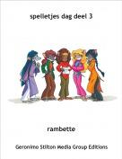 rambette - spelletjes dag deel 3