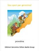 provolina - Uno sport per geronimo!