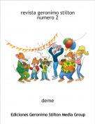 deme - revista geronimo stilton numero 2